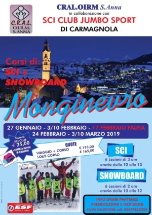 Corsi di sci e snowboard a Monginevro